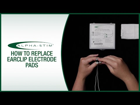 How To Replace Alpha-Stim Earclip Electrode Pads
