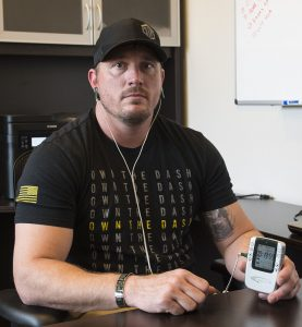 Dakota Meyer wearing Alpha-Stim