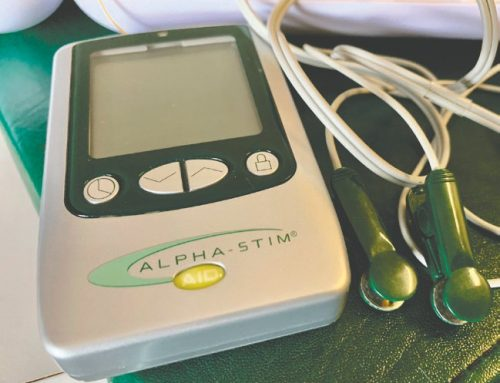 An alternative treatment: Alpha-Stim treatment can feel like a Bahamas vacation