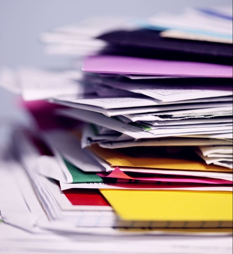 A pile of mail